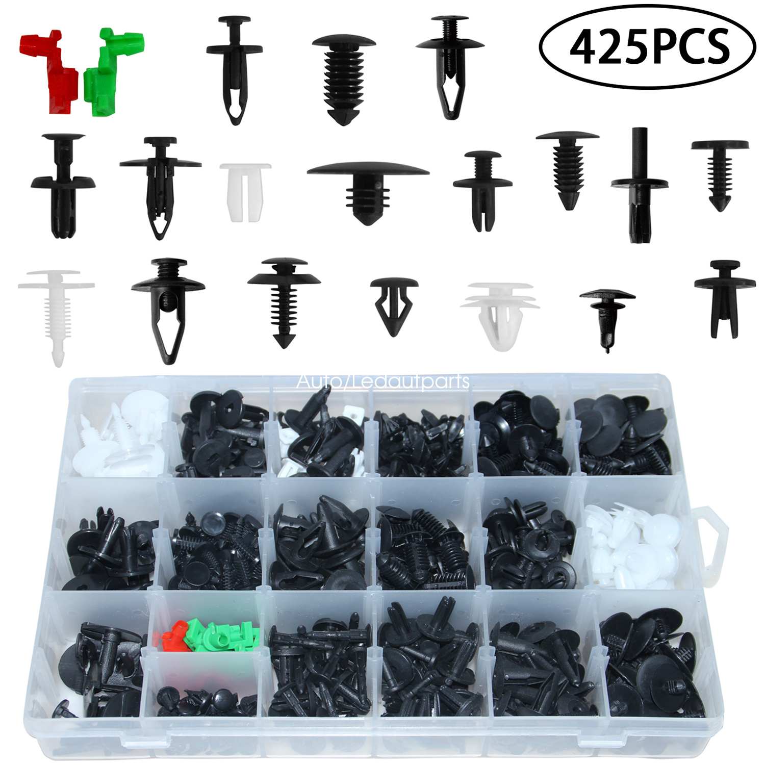 SCITOO 94858299 20Pcs Bumper Pushtype Retainer Clips Kit Car Fastener Rivet Door Trim Clips fit for GM Toyota Honda Ford Chrysler
