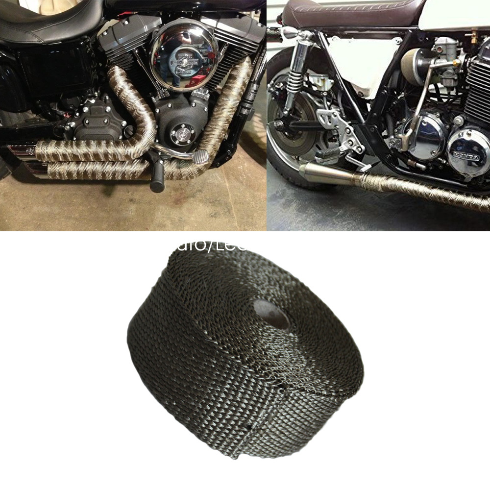 Exhaust Heat Wrap >> Details About Heat Wraps Exhaust For Exhaust Pipes Exhaust Heat Wrap 2 X 25 Fiberglass