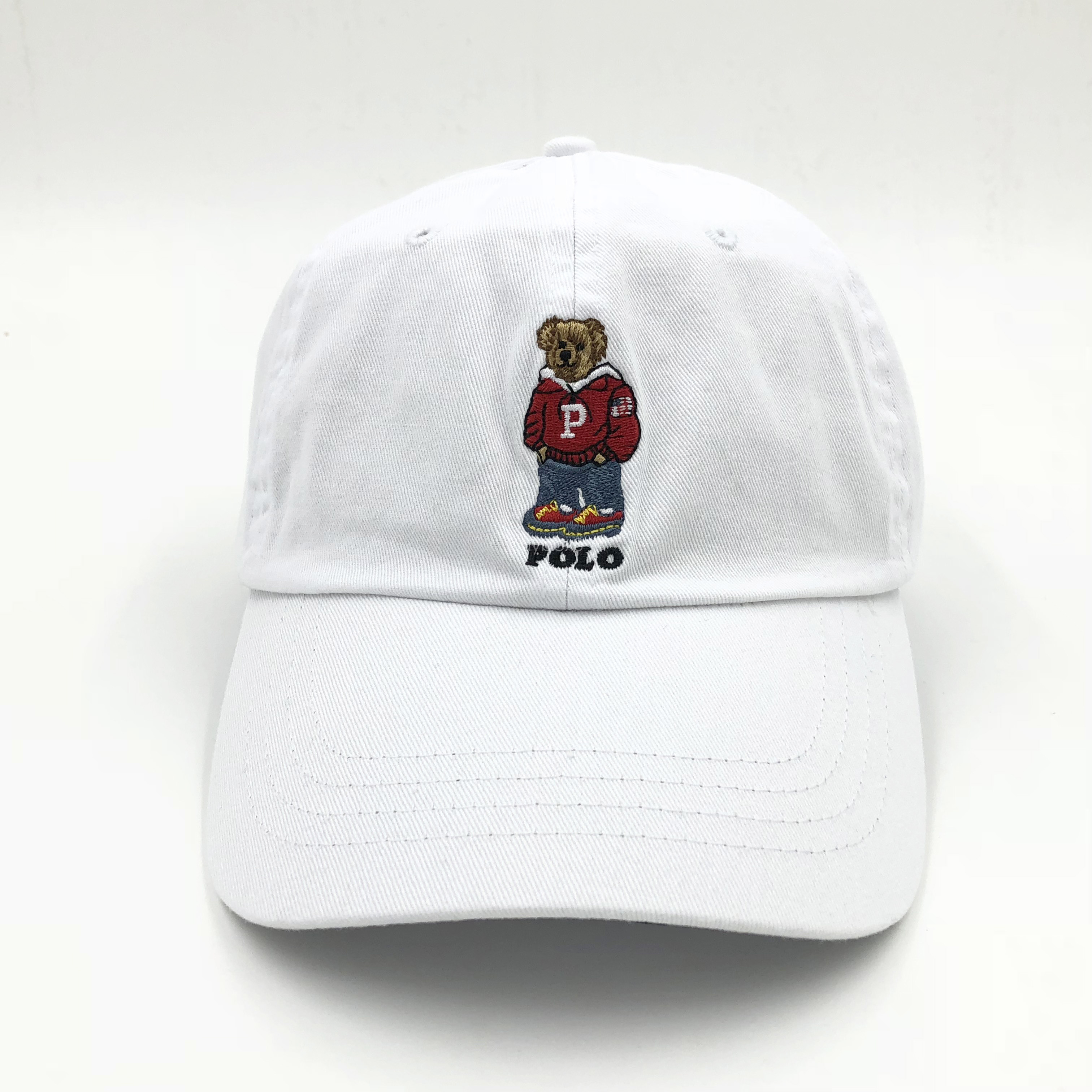 Details about POLO Baseball Cap Embroideried Red Bear Golf Outdoor Hats  Tennis Hat Leisure New cd030fc8130