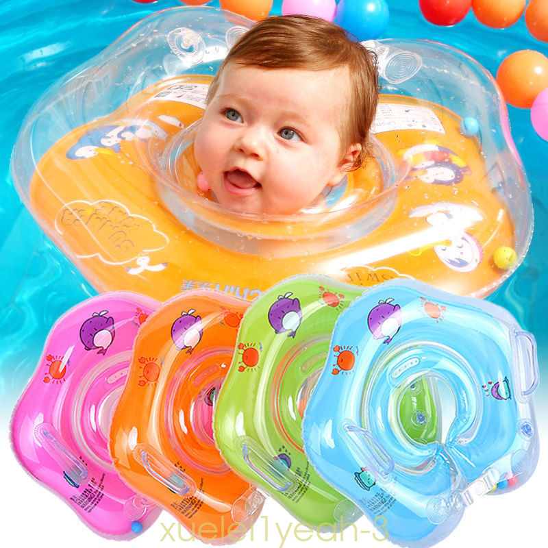 UK Baby Swimming Neck Float Infant Bath Ring Inflatable Safety Aids ...