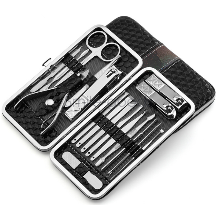 New 18 in1 Manicure Set Nail Clipper Earpick Grooming Pedicure Kits ...