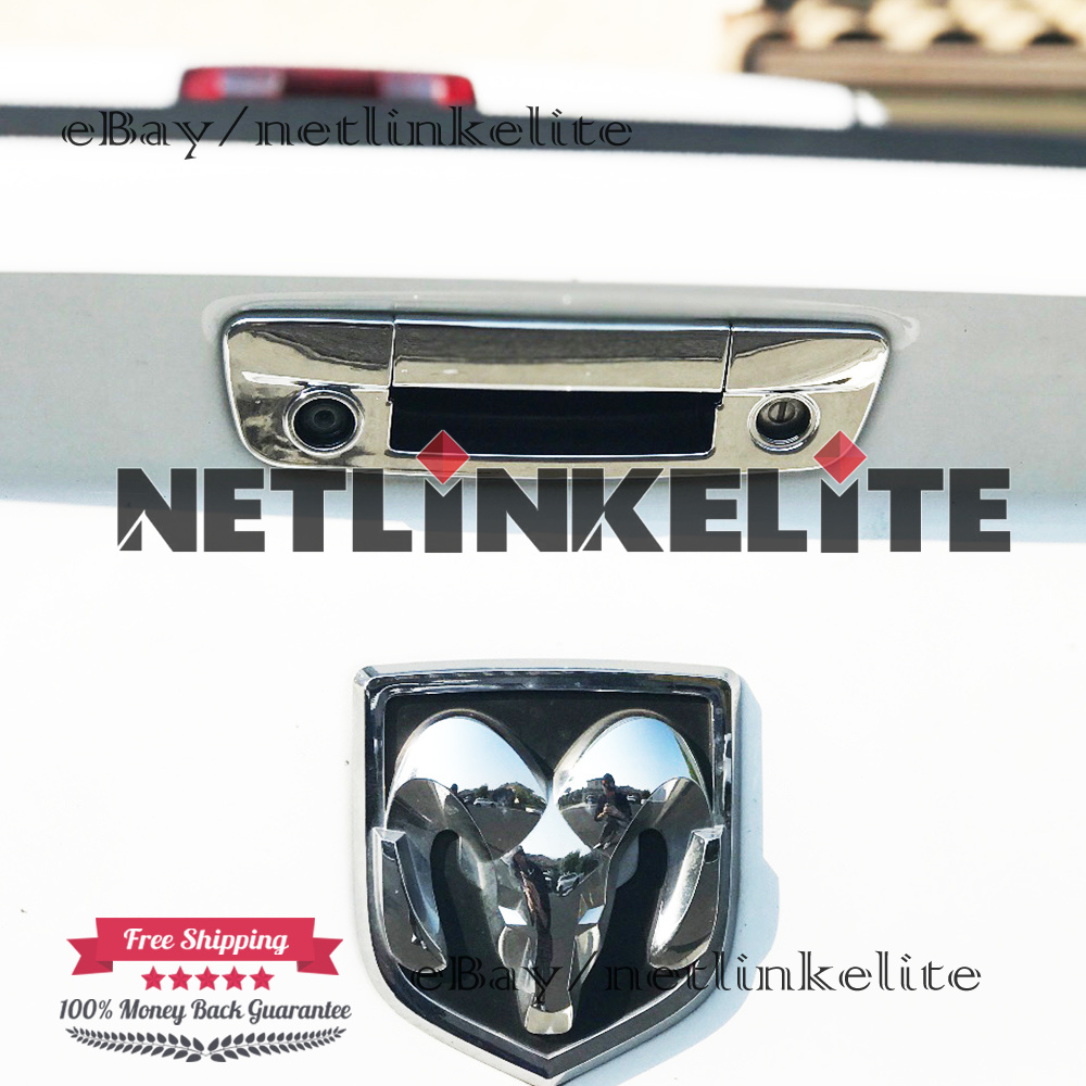 For 2009-2017 DODGE RAM 1500 Chrome Tailgate Cover with Camera Hole+Key hole