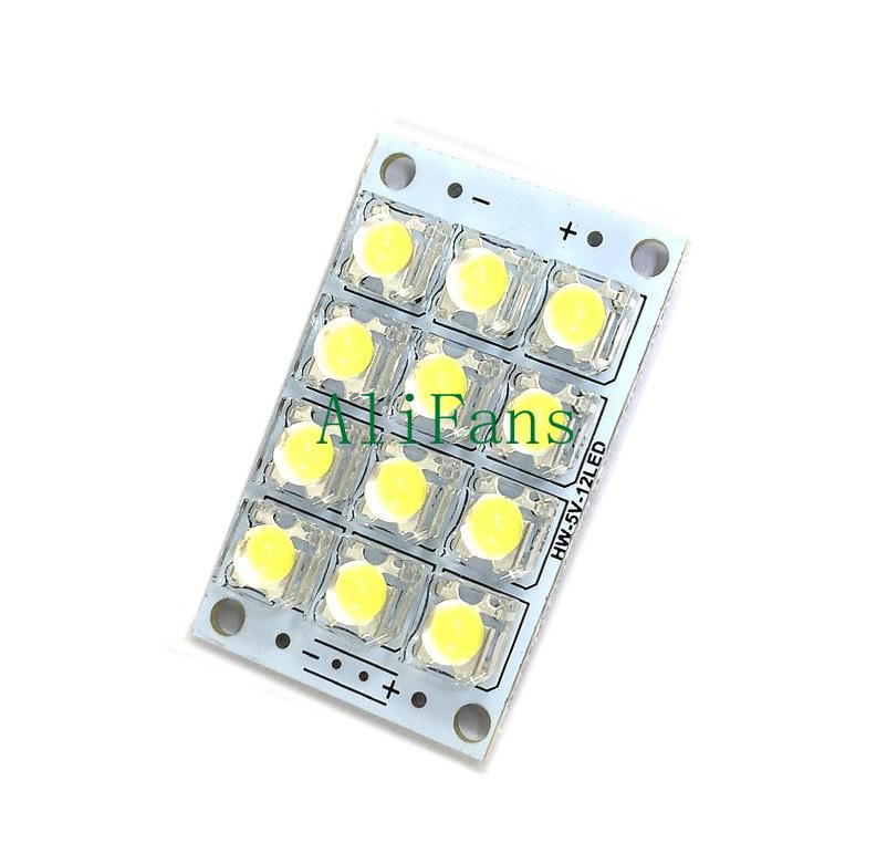 Super Bright DC 3V-5V 12-LED White Piranha LED board Night LED Lights Lamp