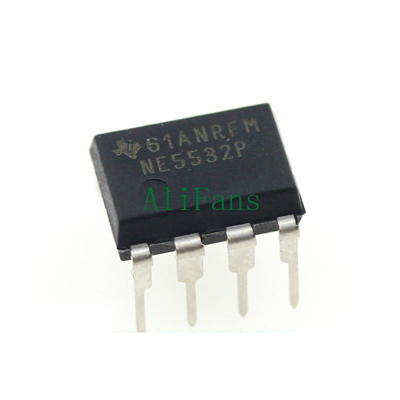 50PCS IC NE5532 OP AMP DUAL 8-DIP TI NEW