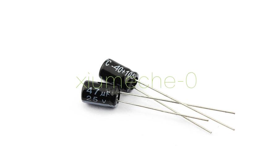 20pcs 47uF 25V 105°C Radial Electrolytic Capacitor 5x7mm CA NEW