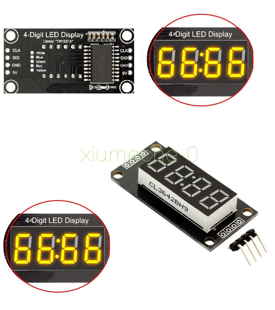 "0.56/"" inch TM1637 4-Bits Digital LED Clock Tube Display for Arduino Yellow"