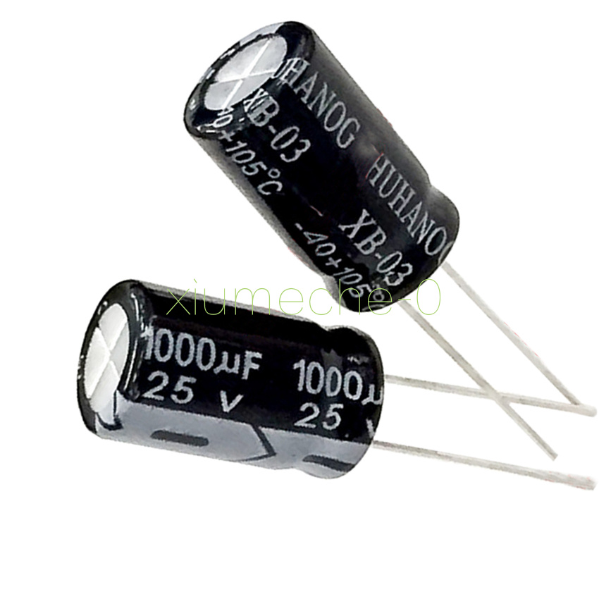 20Pcs 25V 1000uF 105C Radial Motherboard Electrolytic Capacitor 10mm x 20mm