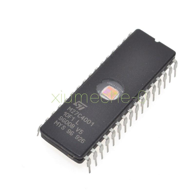 10PCS M27C4001-10F1 27C4001 ST IC EPROM UV 4MBIT 100NS 32CDIP