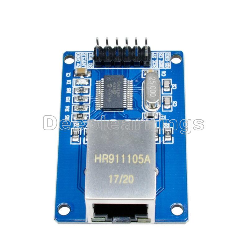 2PCS MiNi ENC28J60 Ethernet LAN Network Module For Arduino SPI AVR PIC LPC STM32