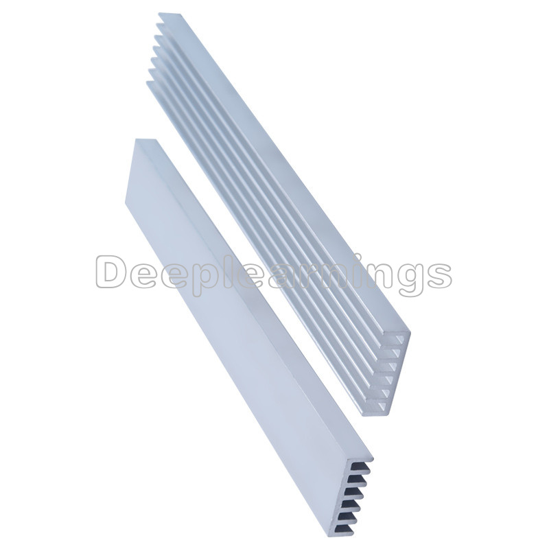 5pcs 150x20x6mm Silver-White LED Heat Sink Aluminum Cooling Fin Heat Sink MO