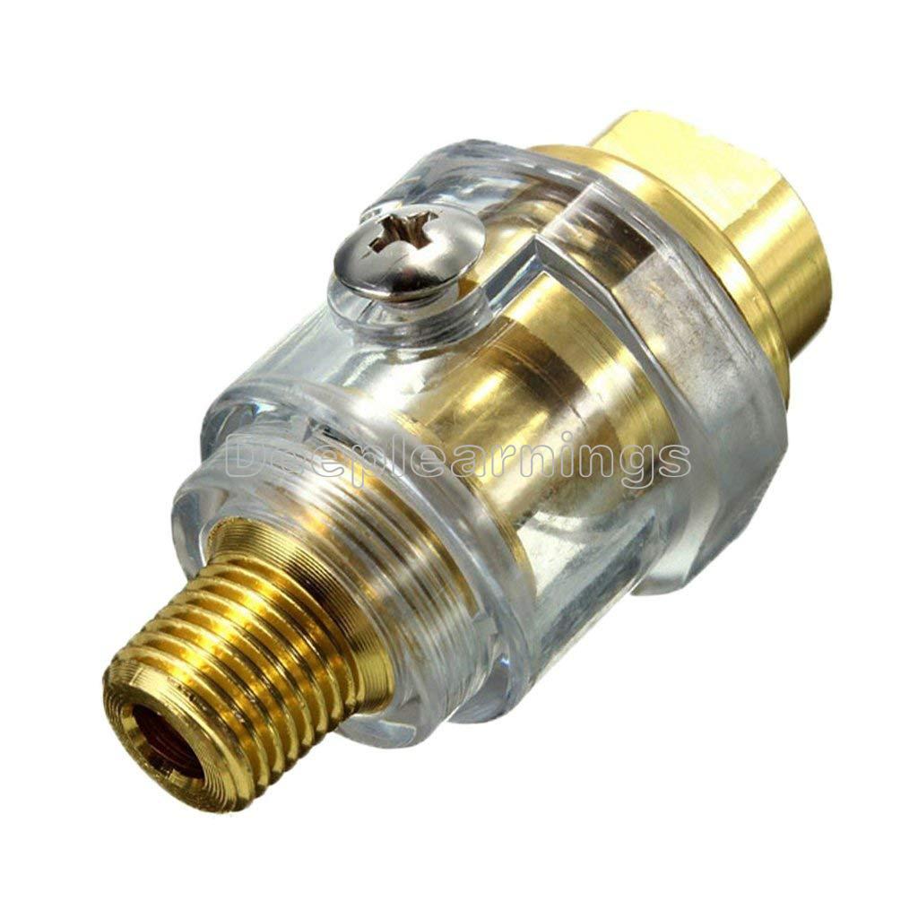 1//4 BSP Mini In Line Air Tool Oil Lubricator Oiler Compressor Pipe Automatic Lubrication Oiler Lubricator