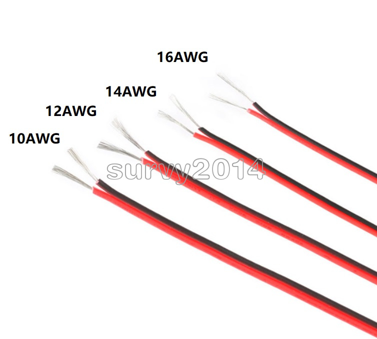 10 12 14 16 Awg Gauge Wire Flexible Silicone Copper Cables