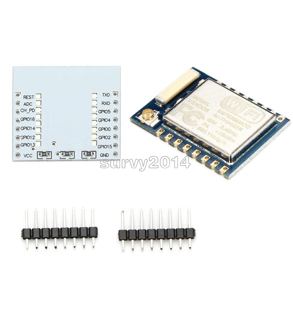 5pcs ESP8266 Esp-12 Remote Serial Port WIFI Module+IO adapter plate Expansion