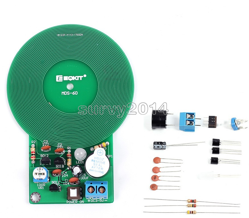 Dc 3v 5v 60mm Metal Detector Kit Electronic Kit Non Contact Sensor