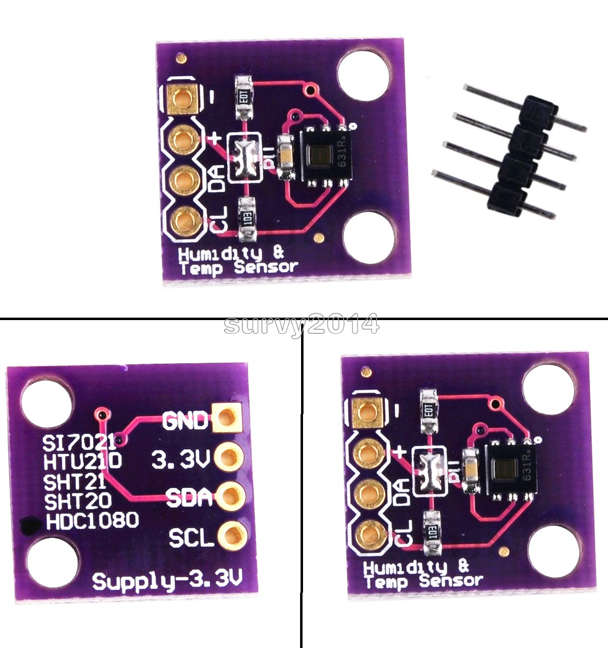 Details about HDC1008 Digital Temperature and Humidity Sensor Breakout  Board for Arduino