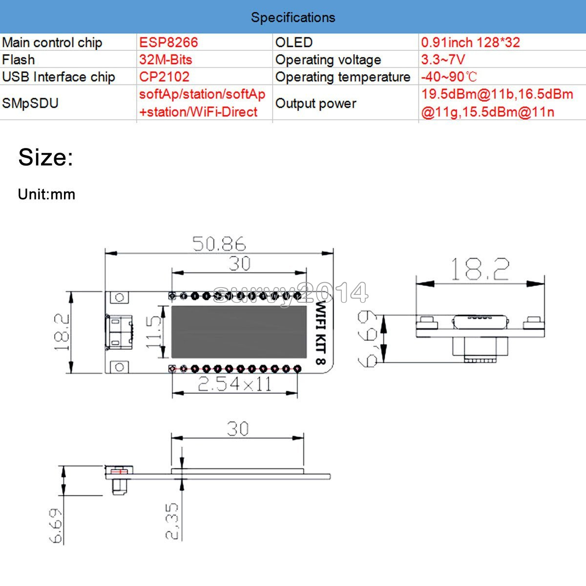 Details about ESP8266 WIFI Chip 0 91
