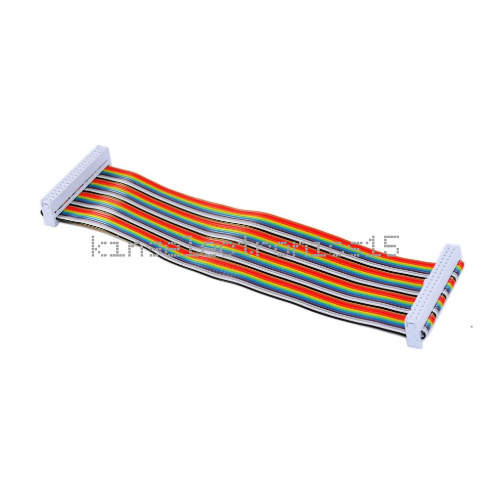 Details about 40PIN Way GPIO Rainbow Ribbon Cable for Raspberry Pi Model B  / Model B+ 20cm