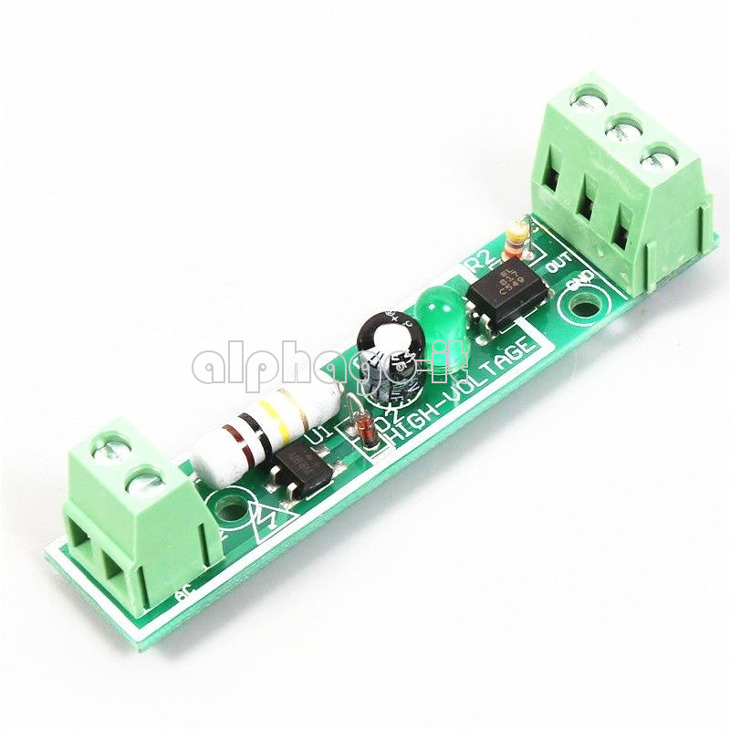 1 Bit Optocoupler Isolation Module Voltage Tester AC 220V PLC 24V Level BBC