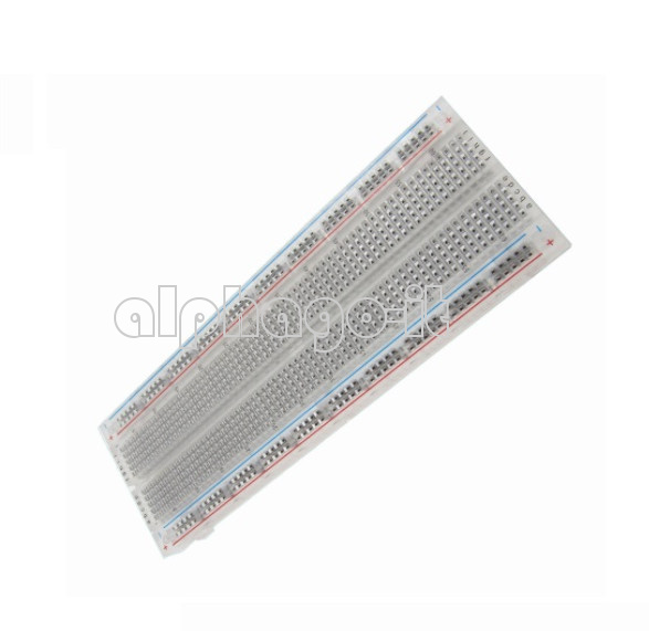 2PCS MB-102 Transparent Material 830Point Solderless PCB Bread Board