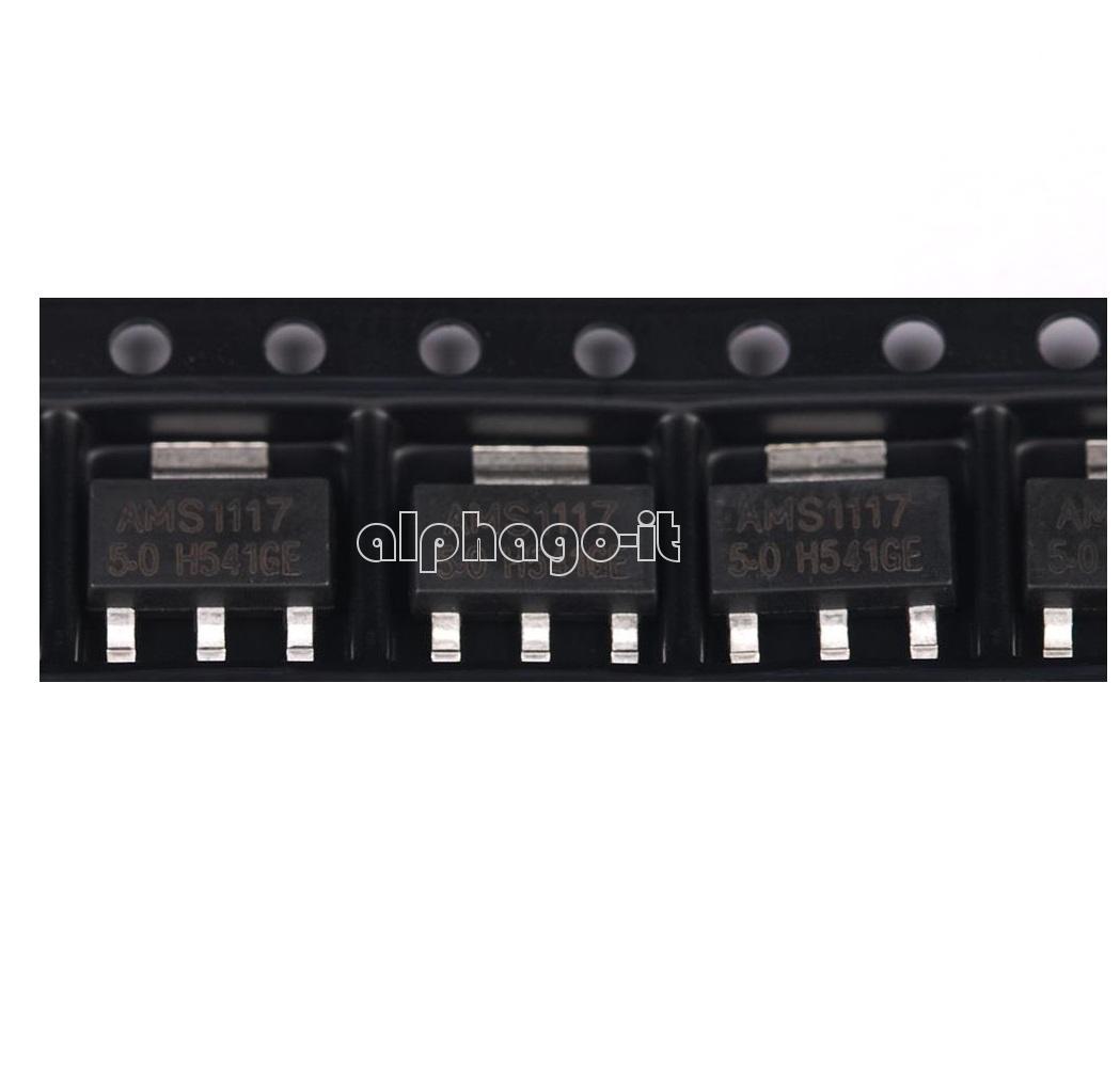 50pcs AMS1117 AMS117-3.3 3.3V 1A Voltage Regulator SOT-223 Good Quality New