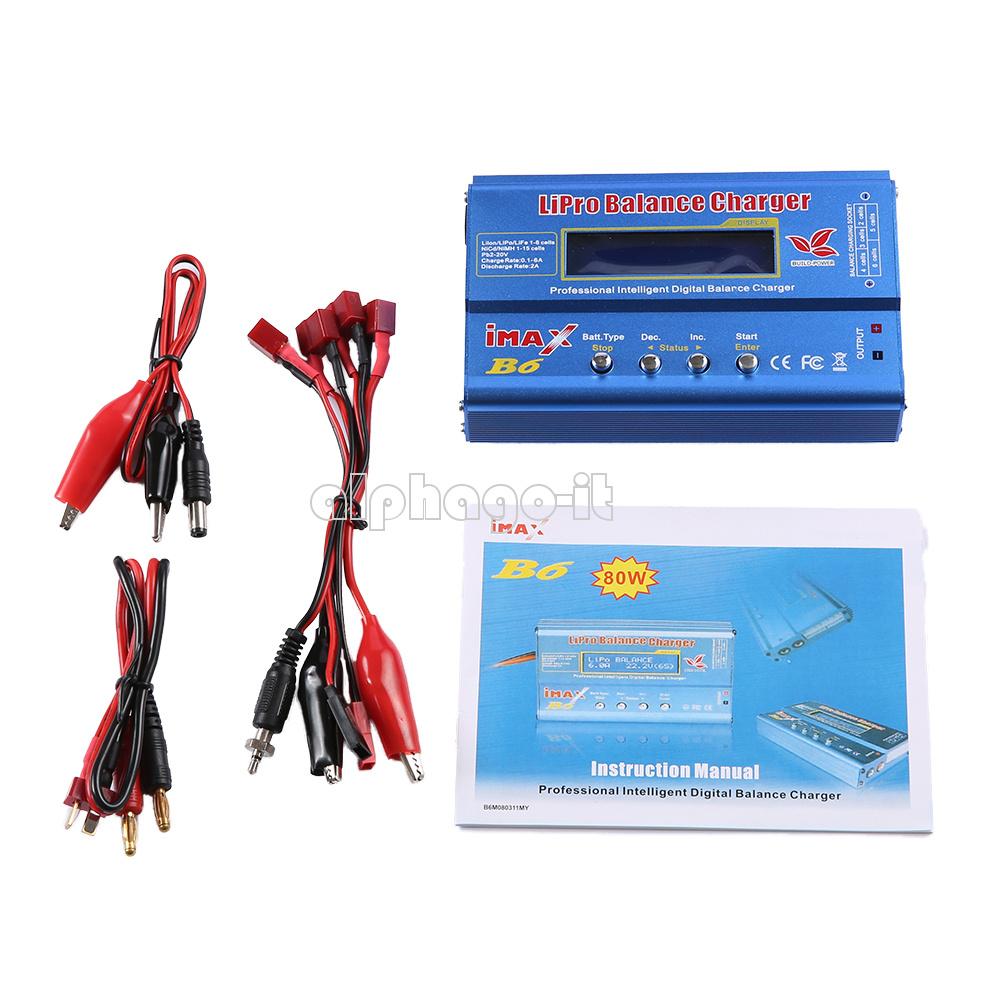 Adaptateur iMAX B6 LCD Écran Numérique RC Lipro Chargeur Batterie NiMh Balance