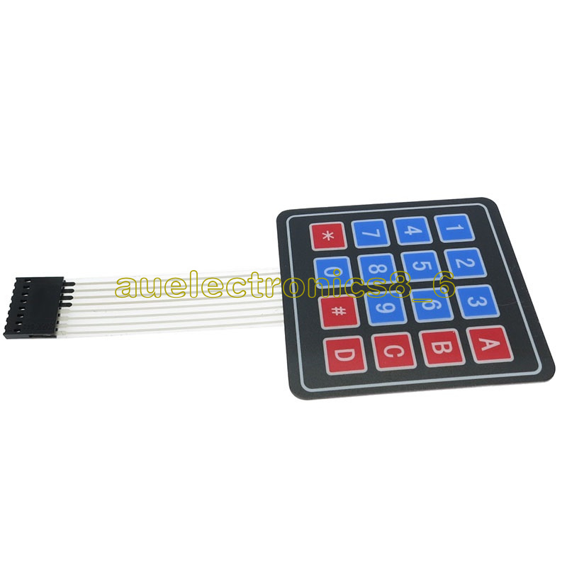 Details about 4 x 4 Matrix Array 16 Key Membrane Switch Keypad Keyboard for  Arduino/AVR/PI C