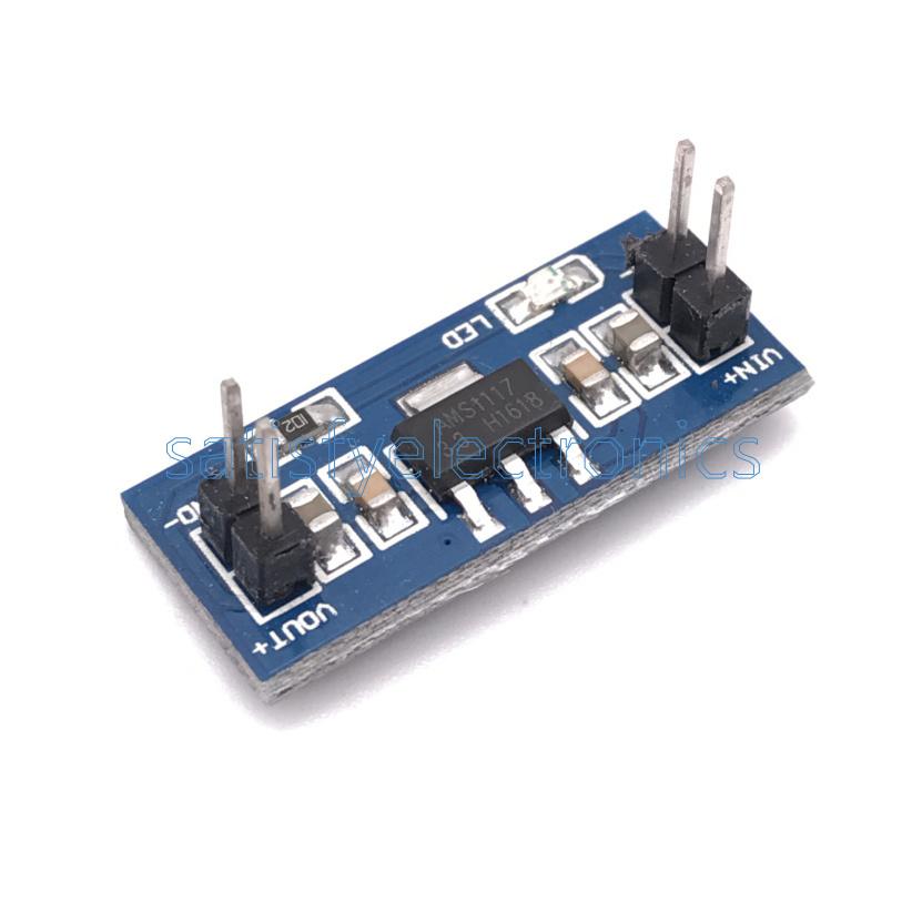 2PCS Input 3.3V AMS1117-3.3V power supply module AL 4.75-12V Output