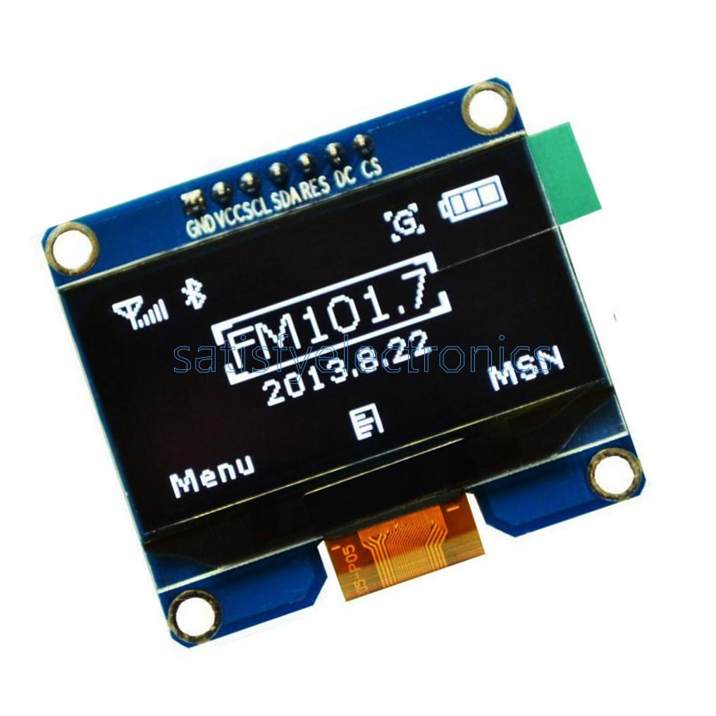 1.54in White 18864 OLED Display Module SPI Interface 3.3-5V SSD1309