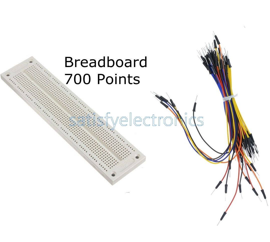 Prototype Mini Breadboard 700//830 Tie-points MB102 SYB 120 Jumper Cables Wire