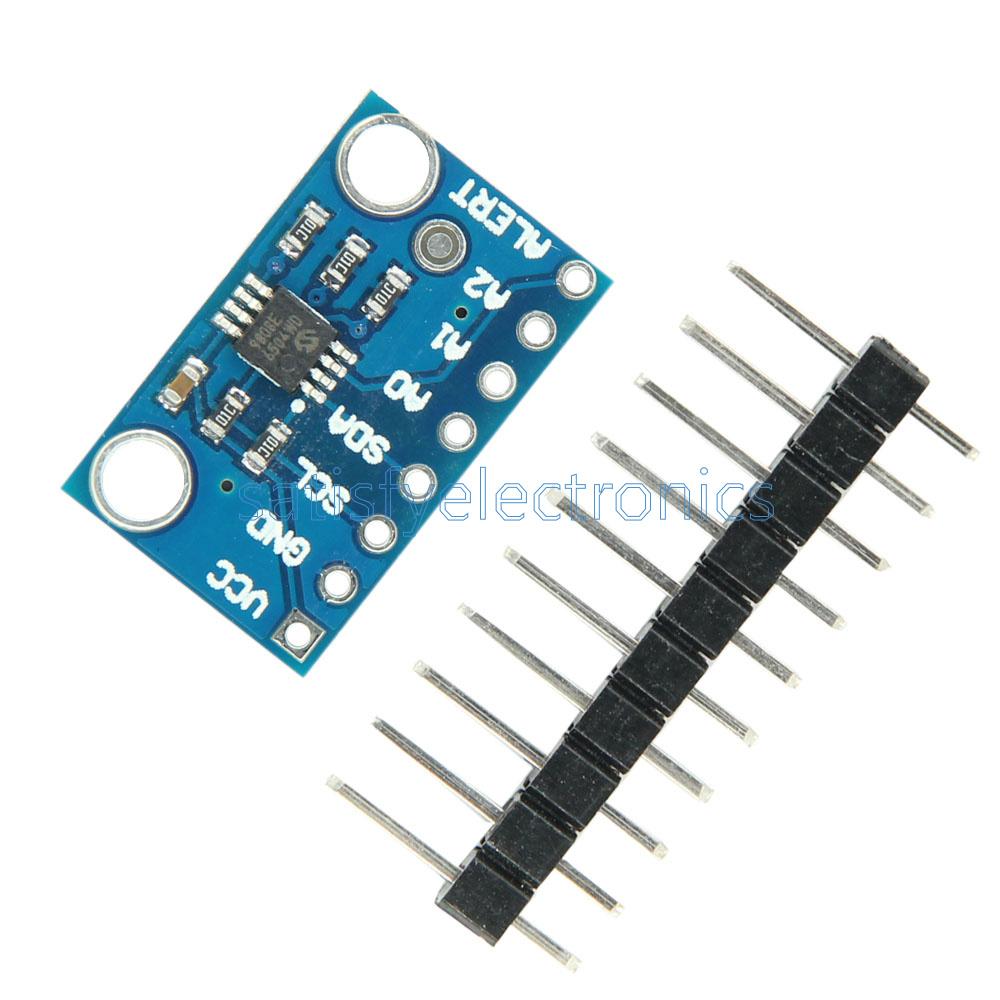 High Accuracy Temperature Sensor MCP9808 I2C Breakout Board Module 2.7V-5V Logic Voltage for Ardunio in Stock