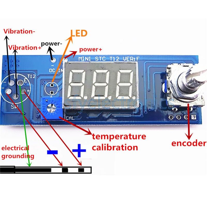Diy Soldering Iron Station Temperature Controller Digital for HAKKO T12 Handle F