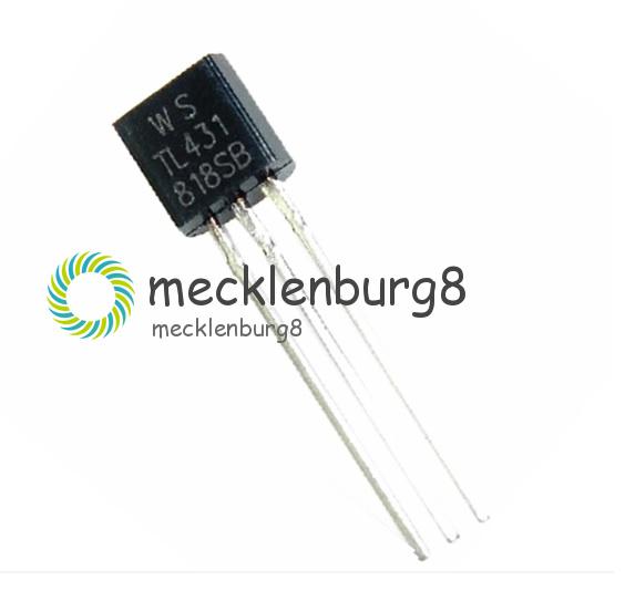 30Stks TL431 Precision Shunt Regulators TO-92