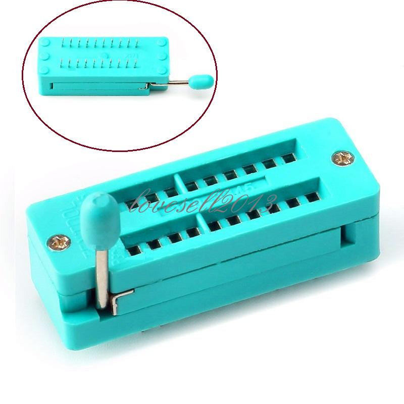 2PCS ZIF 20-pin 20 Pins Test Universal IC Socket 20 Pin DIP 2.54mm
