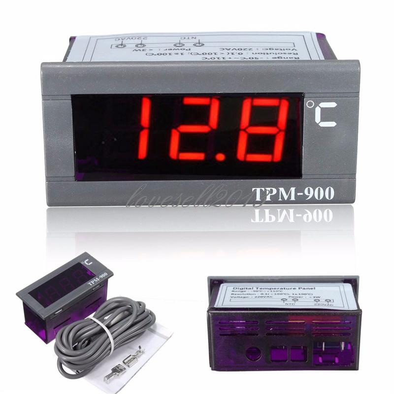 Digital TPM-900 220V Temperature Controller LED Panel Meter With Sensor Moudle