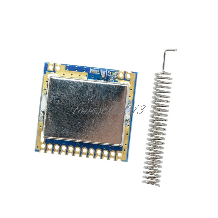 Mini 2000m SI4463-SMT Wireless Transceiver Module 433MHZ With Spring Antenna