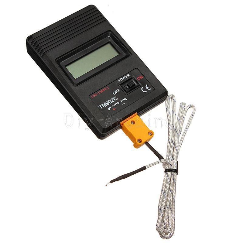 Sonde Digital Temperaturmessgerät K Typ Hochtemperatur Thermometer 1300℃ 2327℉