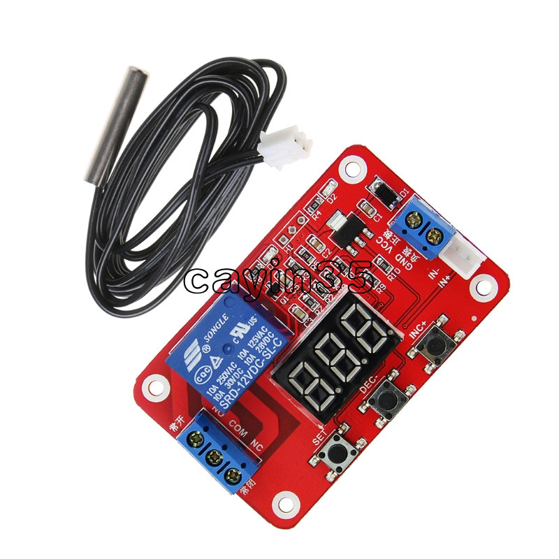 20A Relay Output Digital Adjustable 3 Sensors Heat-Humidity-Light Controller