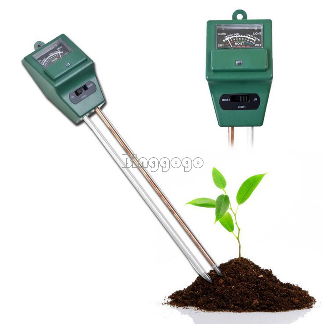 Garden Flower 3 in 1 PH Tester Soil Water Moisture Light Test sensor Meter