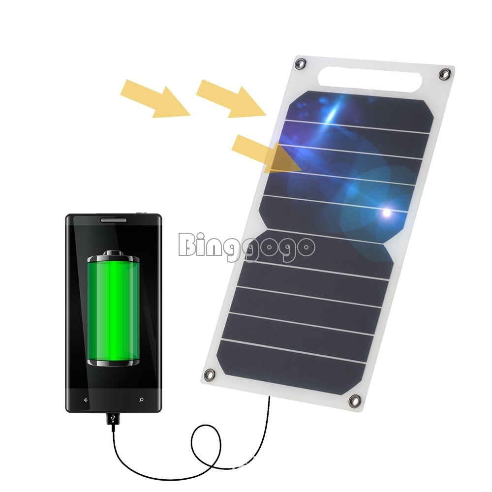 Portable 10w 5v Solar Power Charging Panel Usb Charger For