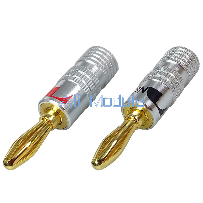 24X 24K Banana Plug Adapter Audio Jack Connector for Nakamichi Speaker Cable EF
