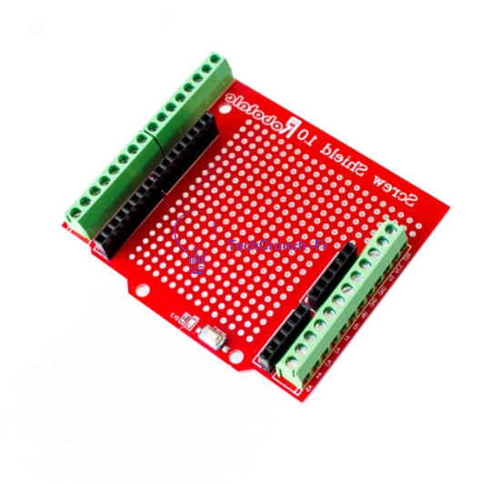 Proto Screw Shield For Arduino Open Source Reset Button D13 LED