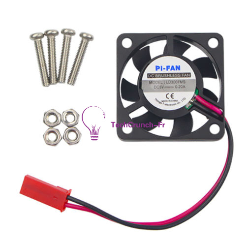 DC 5V Brushless Cooling Fan with Screws for Raspberry Pi Model B Pi 2