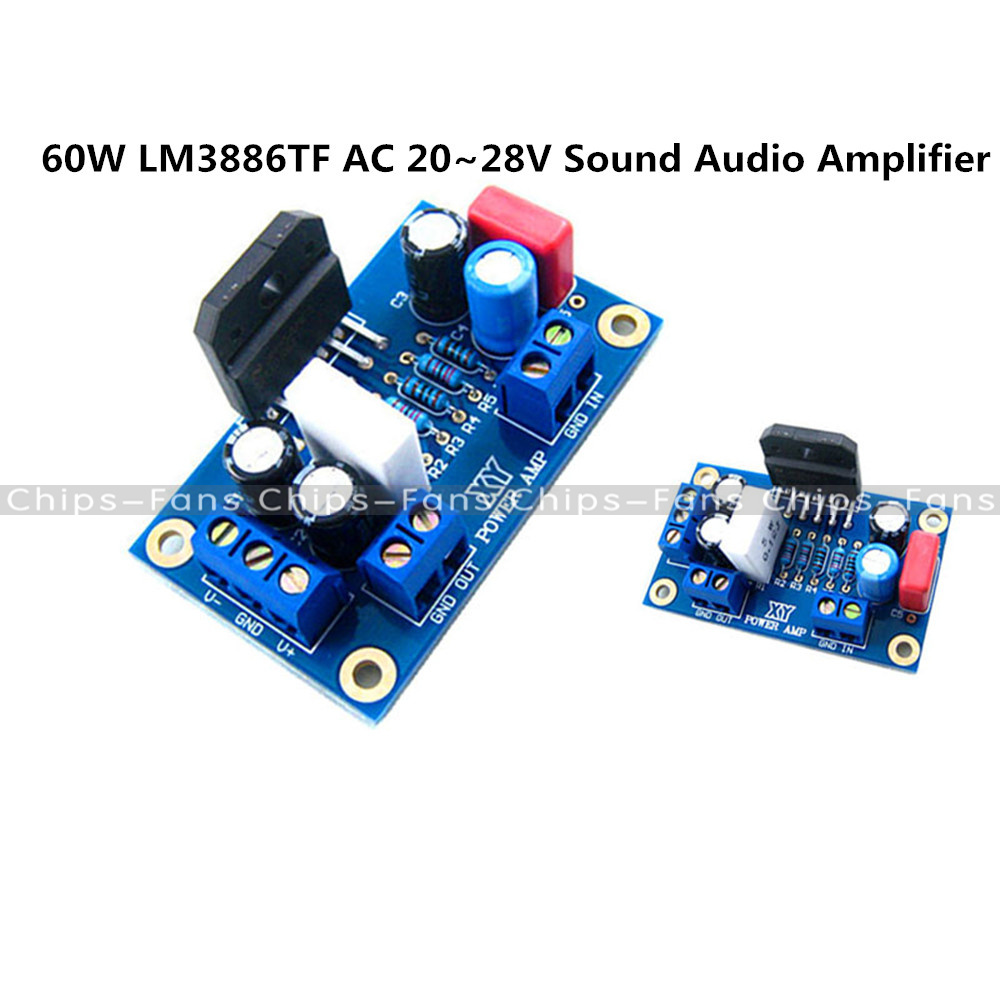 60w Audio Power Amp Circuit Schematic Lm3886tf Sound Amplifier Mono Digital Diy Kit Components