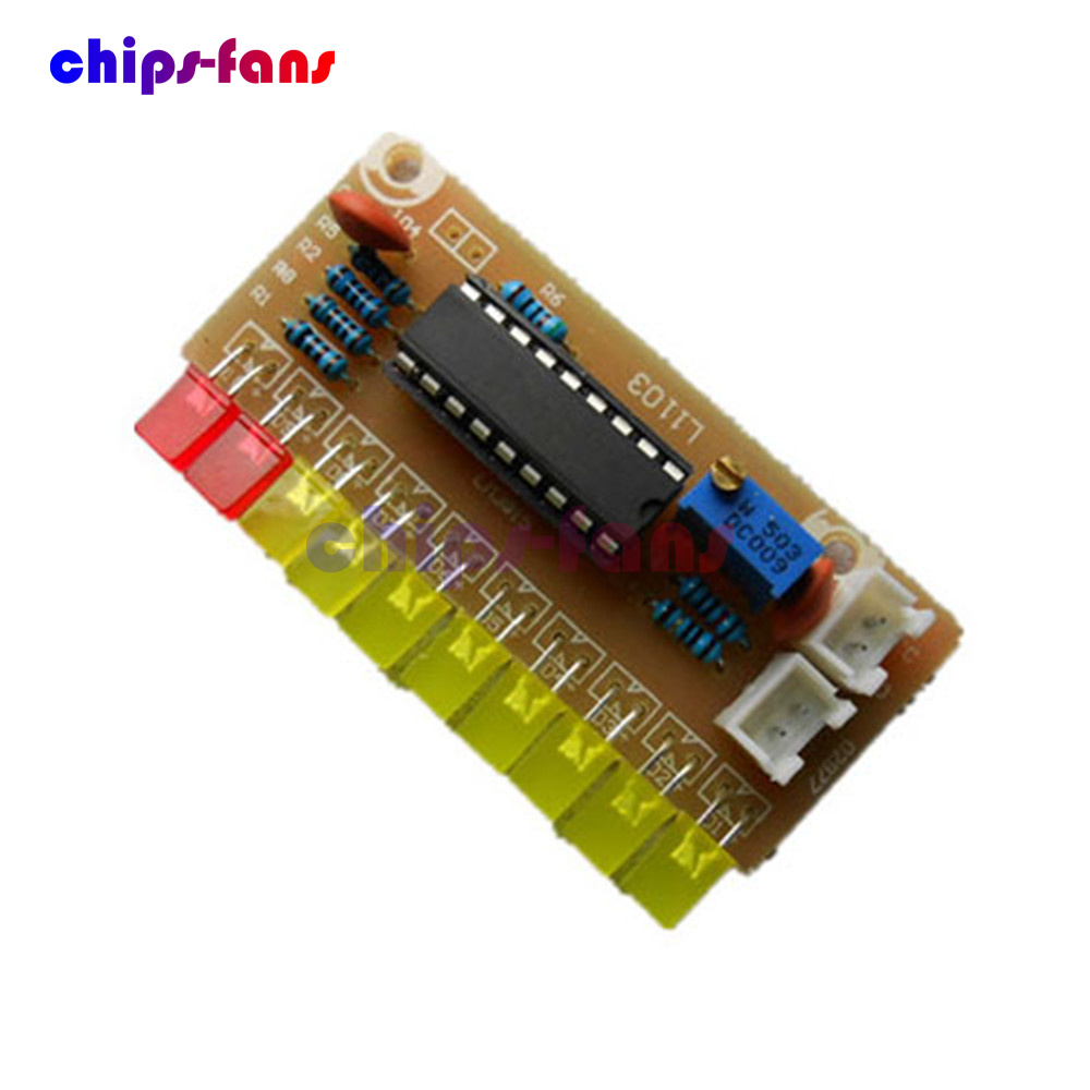 Lm3915 Funny 10 Audio Level Indicator Diy Kit Electronic Circuit Suite