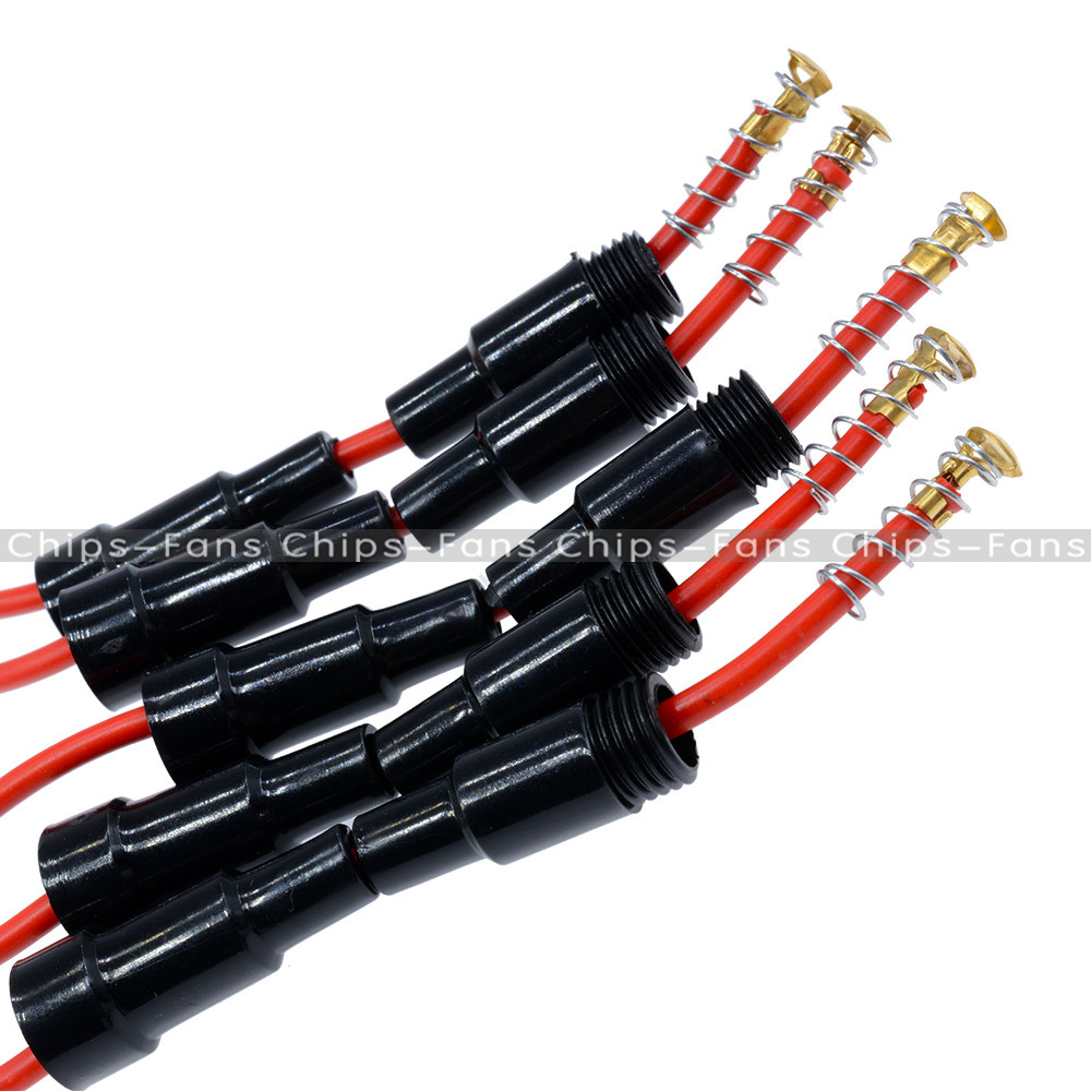 Details About 5pcs Home Protection Inline Fuse Holder Copper Wire Components 5a 220v Box Cable Main