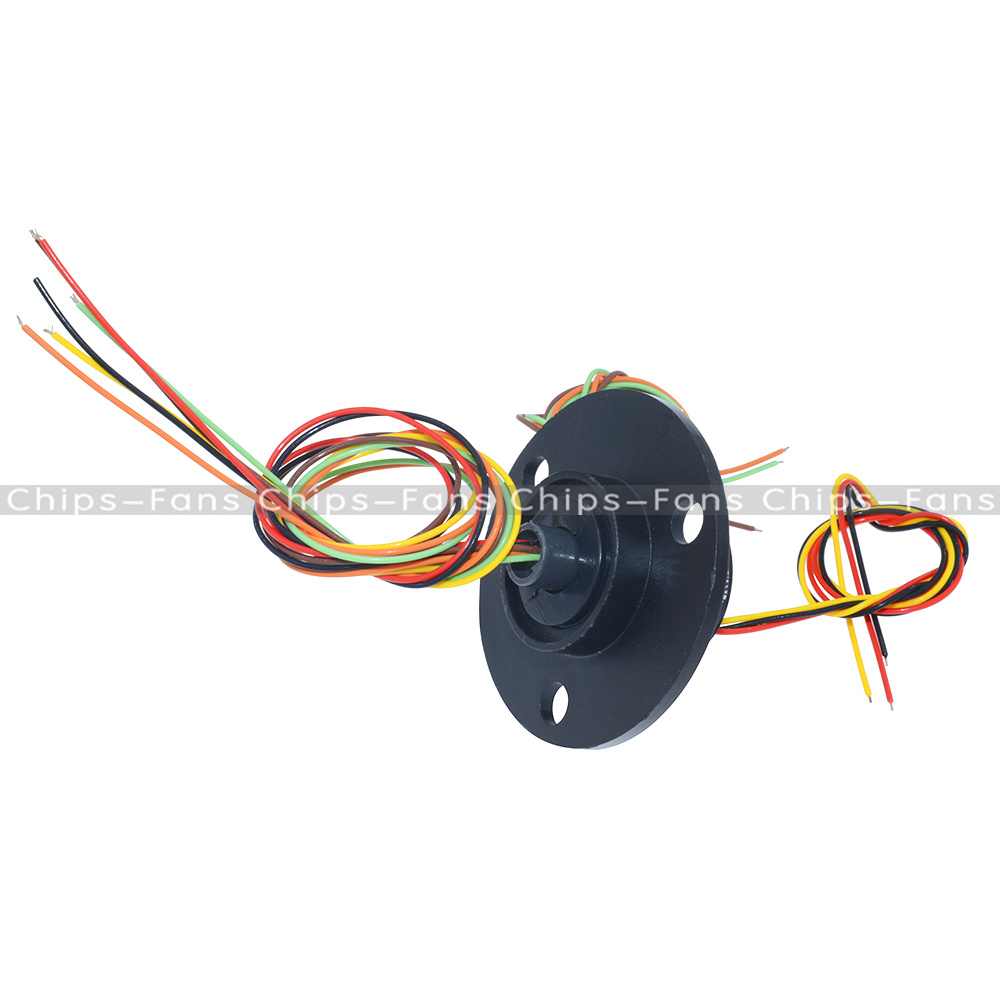 22mm 250rpm 6 Wires Conductors Capsule Compact Slip Ring 220v Ac Wiring Fans In Series Cctv Monitor