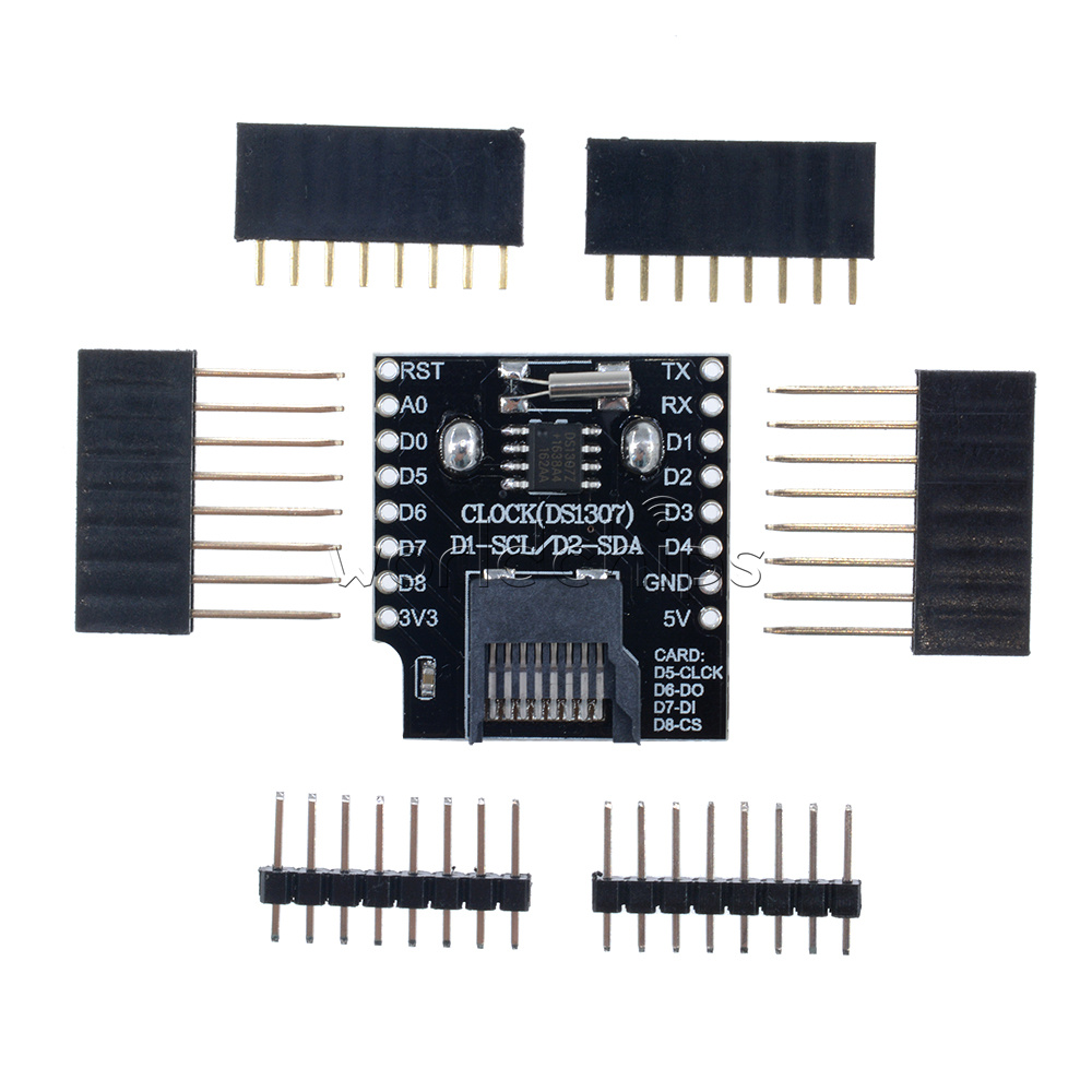 Details about Micro SD Wemos D1 Mini Data Logger Shield+RTC DS1307 Clock  For Arduino/Raspberry