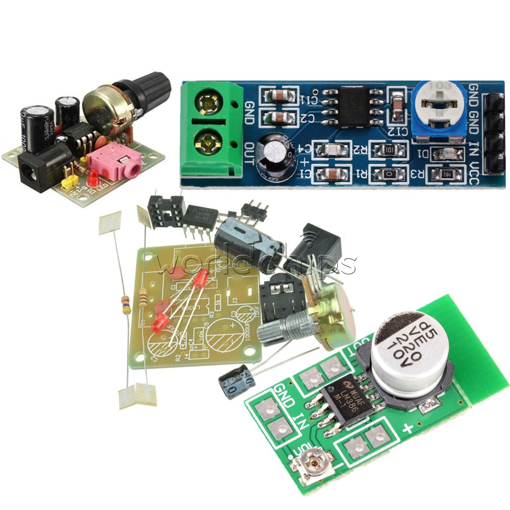 Lm386 200 Times Gain 5v 12v Mini Audio Power Amplifier Board Working Operation Of Ic Diy Kit