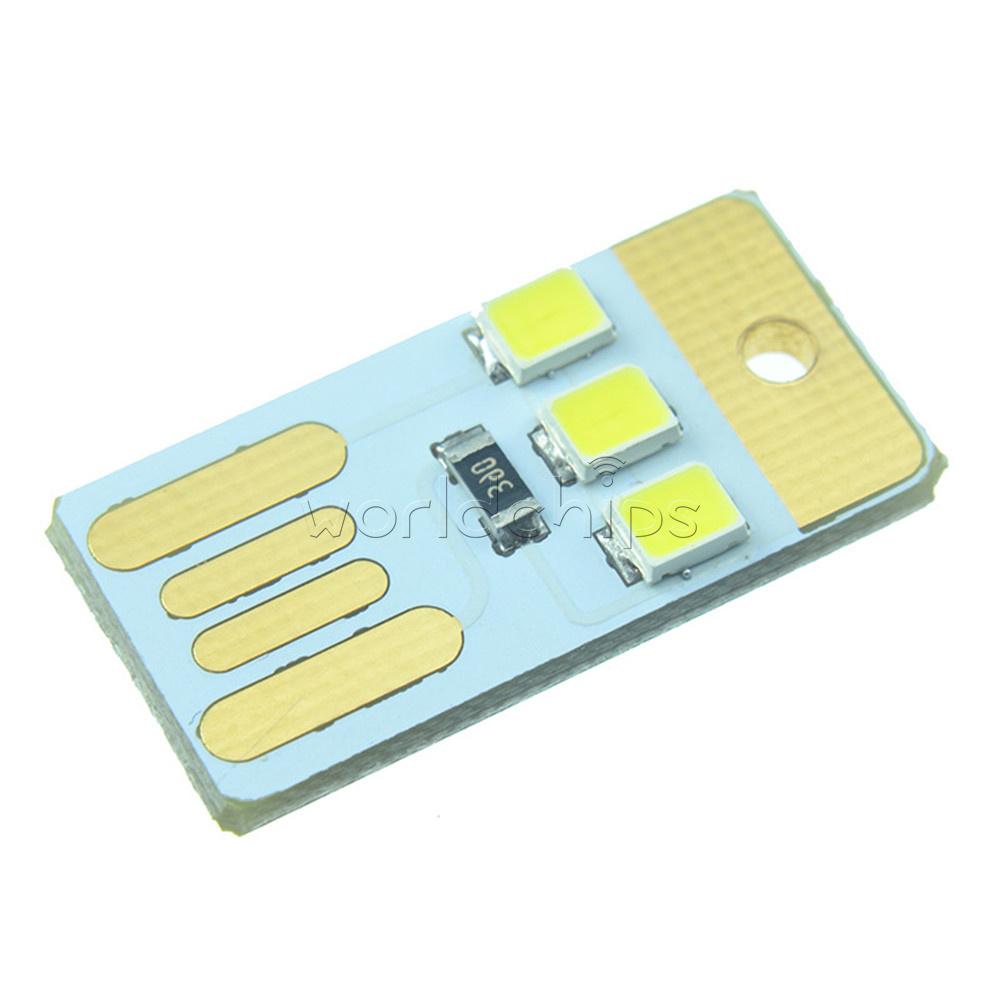 Integrated Circuits 10pcs Card Lamp Bulb Led Keychain Mini White Led Night Light Portable Usb Power