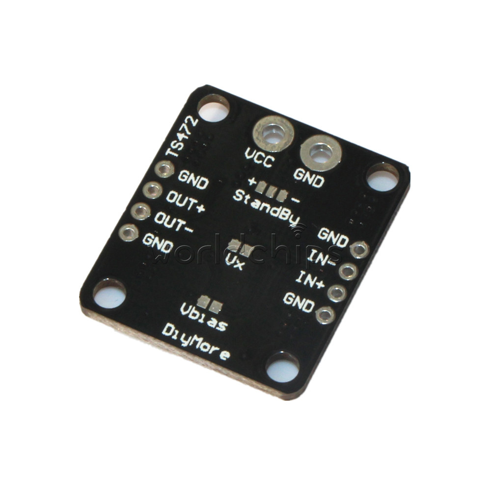 Electret Microphone Audio Preamplifier Ts472 Board Active Low Mic Preamp Circuit Standby Module
